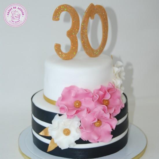 Pgina inicial gros de acar bolos decorados cake design bolo 30 anos flores altavistaventures Gallery