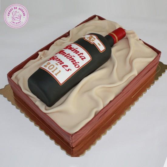 Cake Design Para Homem : Garrafa Vinho - Graos de Ac?car - Bolos decorados - Cake ...