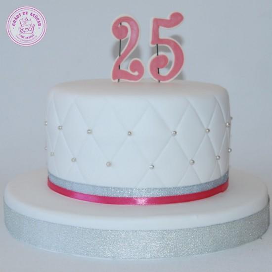Bolos Cake Design Lisboa : Bolo 25 Anos - Graos de Ac?car - Bolos decorados - Cake Design