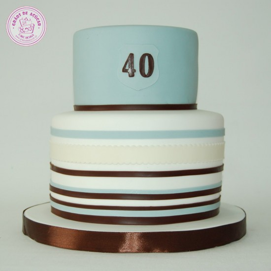 Bolo de Aniversario 40 Anos Feminino Bolo 40 Anos