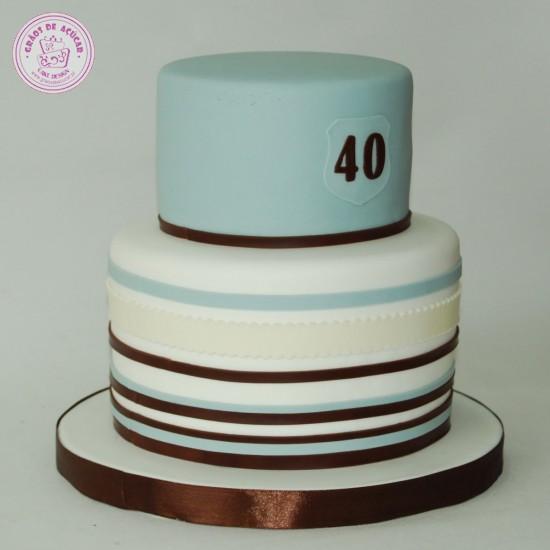 Bolo de Aniversario 40 Anos Feminino Bolo 40 Anos Categoria