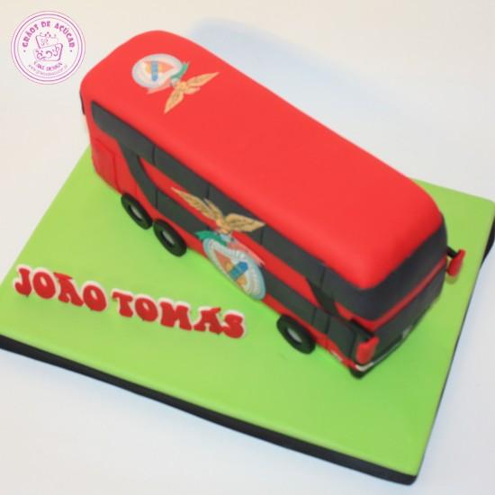 Bolos Cake Design Lisboa : Futebol - Autocarro Benfica - Graos de Ac?car - Bolos ...