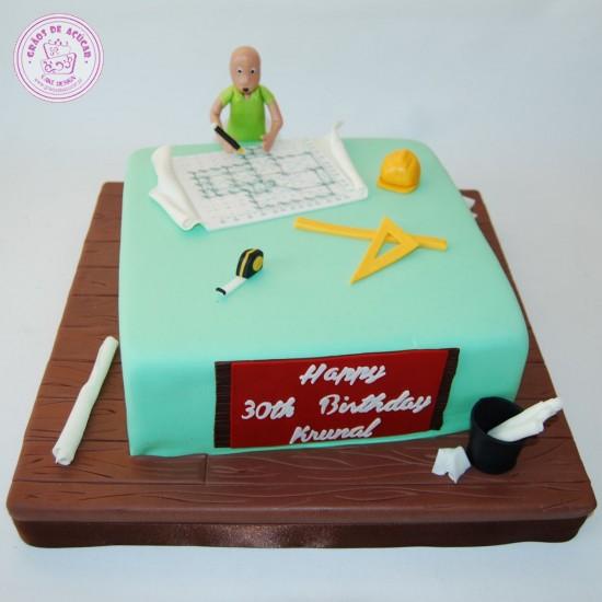 Cake Design Para Homem : Profissao - Engenheiro Civil - Graos de Ac?car - Bolos ...