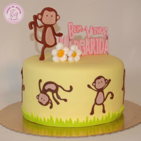 macaquinhos gr227os de a231250car bolos decorados cake design