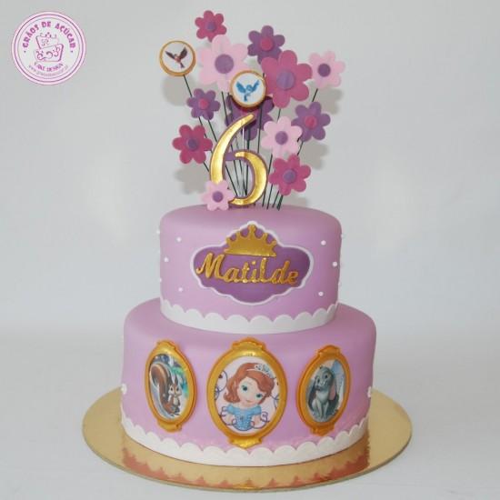 Princesa Sofia Flores Graos De Acucar Bolos Decorados Cake