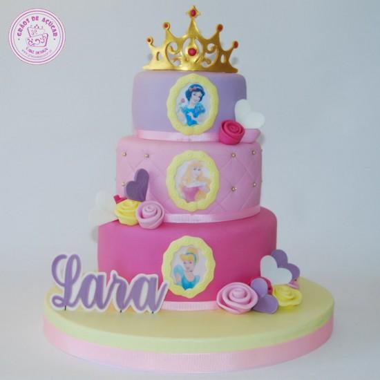 Princesas Disney Andares - Grãos de Açúcar - Bolos decorados - Cake ... 64137997f3