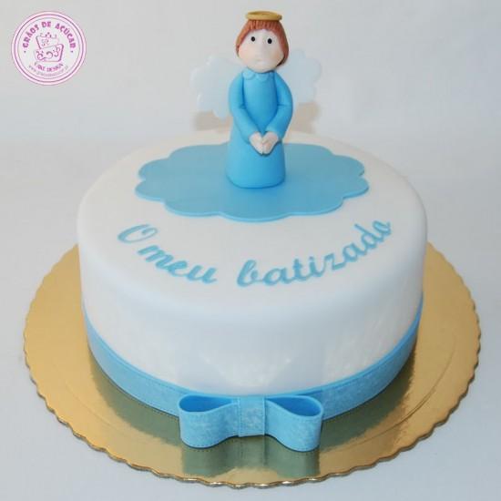 Anjo e Laco - Graos de Ac?car - Bolos decorados - Cake Design
