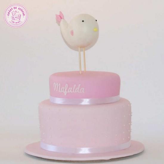 Passarinho - Graos de Ac?car - Bolos decorados - Cake Design